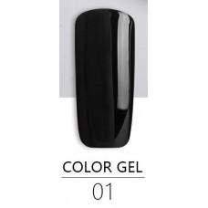 Гель краска BlueSky Color Gel 01 черная
