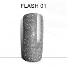 BLUESKY FLASH Gel Lacquer #01 Light silver