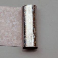 Foil silver square holographic