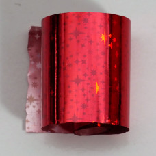 Foil red star holographic