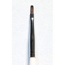 Brush for painting nails in the style of Zhostovo, Gzhel, Petrikovka