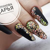 Дизайн ногтей с неоновыми пигментами